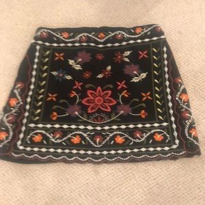 EUC embroidered mini skirt